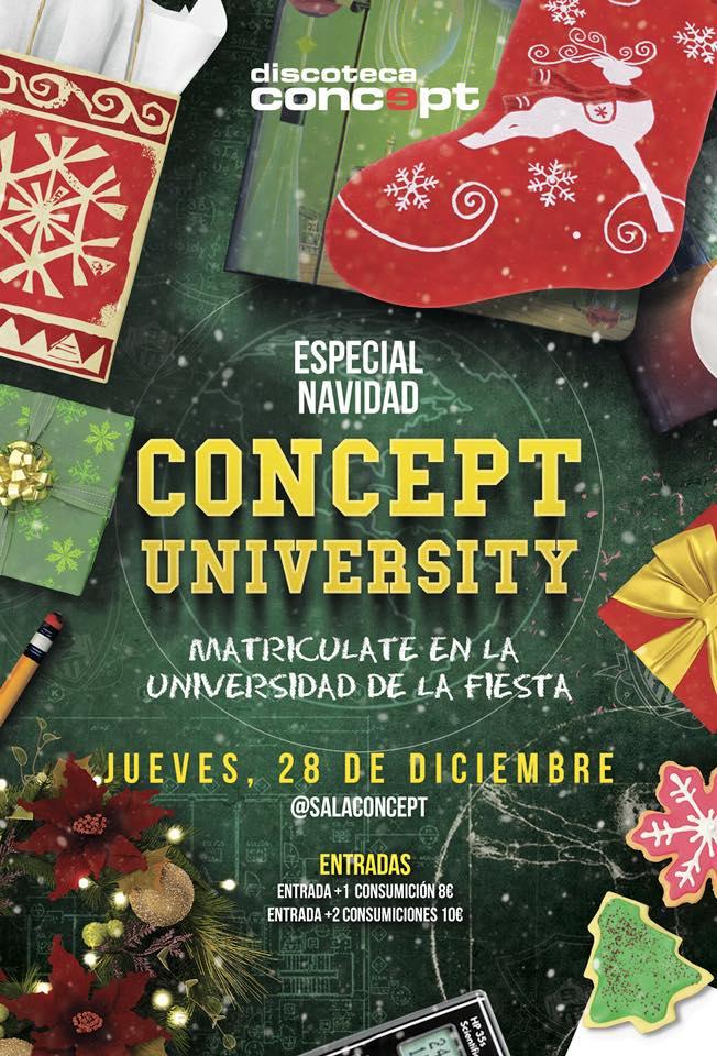 concept university Navidad